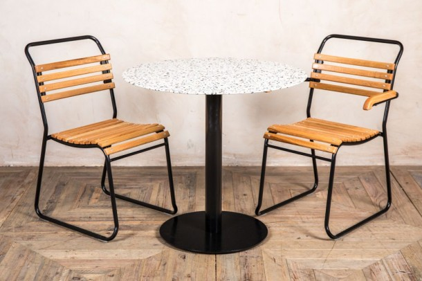 Light Terrazzo Outdoor Dining Table