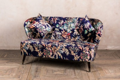 patterned velvet sofa