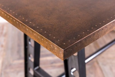 bar height table with copper top