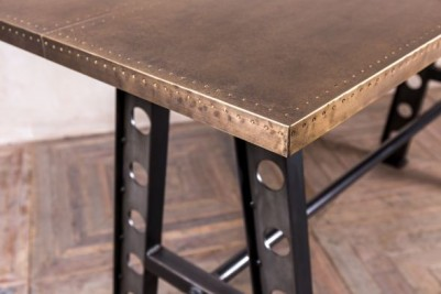 brass top a frame table