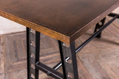 copper top bar height table