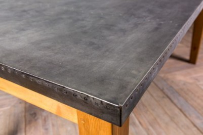 1.8m Zinc Table with Pine Base