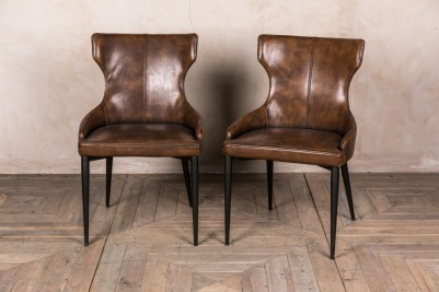 brown upholstered dining chair