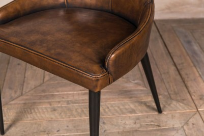brown upholstered dining room chairs