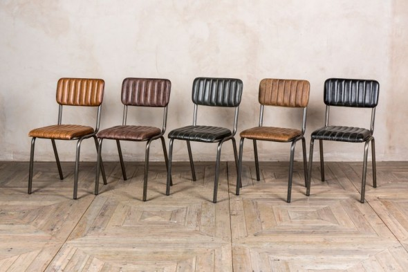 Arlington Modern Stacking Chairs (Gunmetal Frame)
