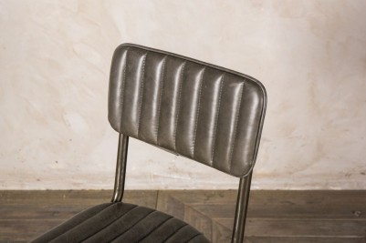 ribbed leather chairs