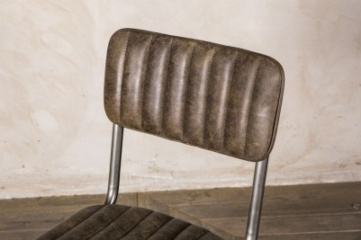 ribbed leather dining chairs