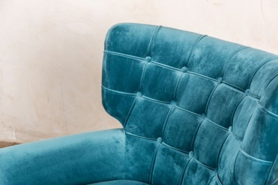 button back teal chair