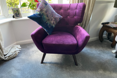purple occassional chair