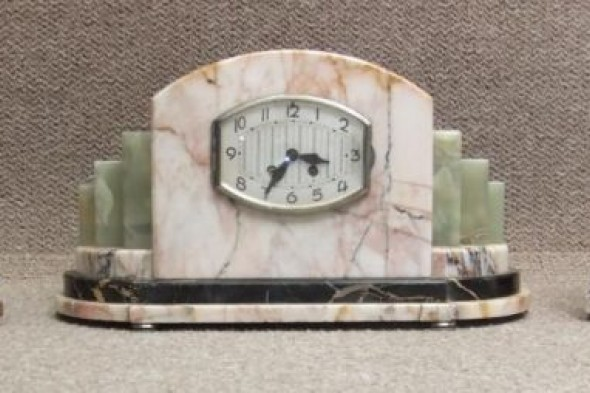Art Deco Mantel Clock in Marble