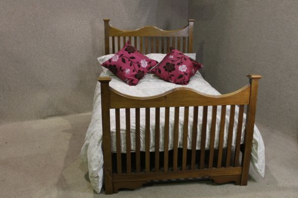Arts and Crafts Double Bed in Walnut