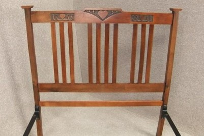 Arts & Crafts oak double bed circa 1900
