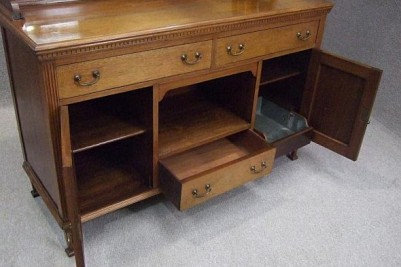Arts & Crafts walnut sideboard