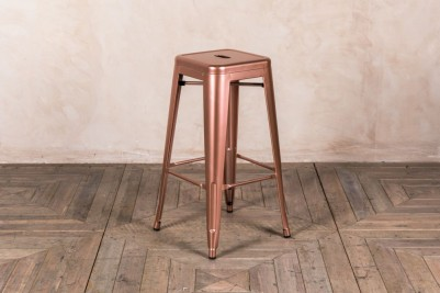 tall bright copper stool