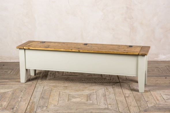 Bespoke Pine Bench with Storage