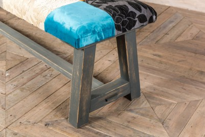 upholstered patchwork bench