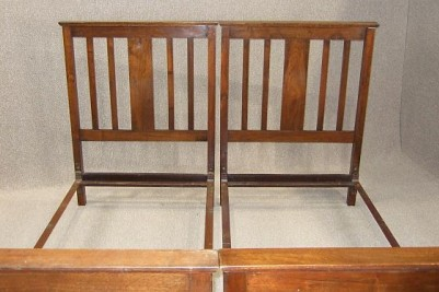 Late Victorian walnut single beds