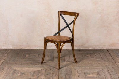 Bentwood dining chair with rattan seat
