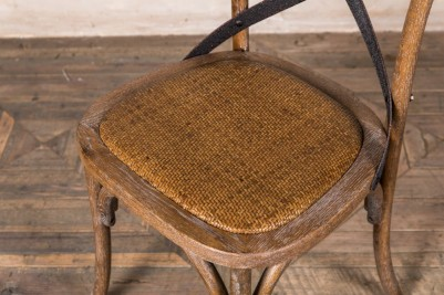 distressed cross back dining chair