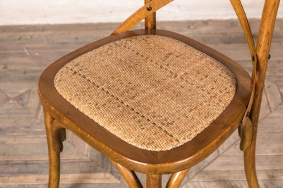 oak Bentwood chair with rattan seat