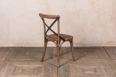 rustic oak dining chair