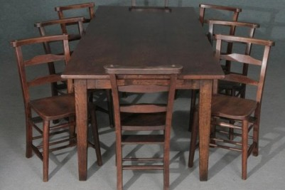Bespoke Oak French Farmhouse Table with Chairs