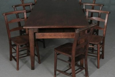 Bespoke Oak Farmhouse Table with Chairs