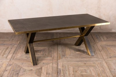 brass edge table