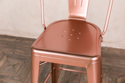 bright copper bar stool