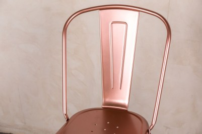 bright copper stool with back