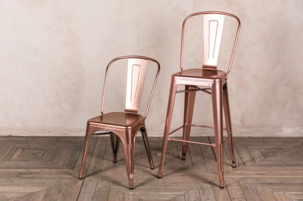 Bright Copper Tolix Style Seating Range