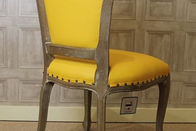 bright yellow chair
