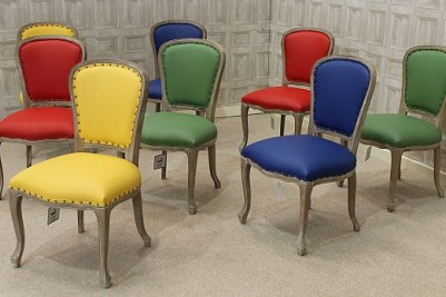 multicoloured chairs