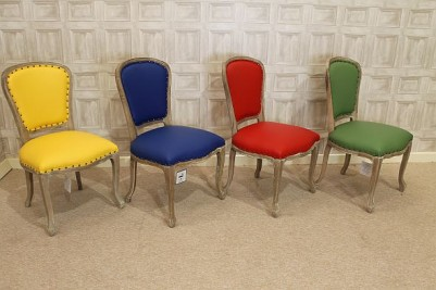 primary colour leather chairs