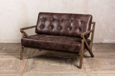 hickory brown leather sofa