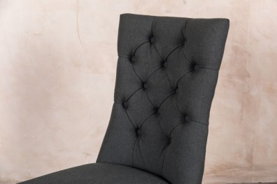 pewter grey button back dining chair