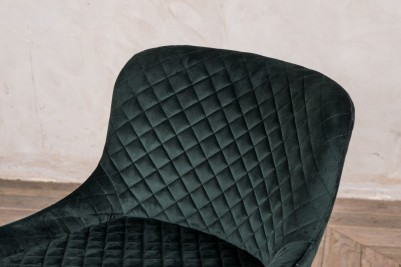 green quilted chairs
