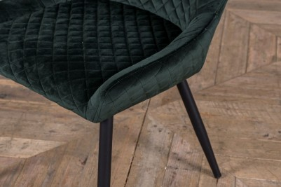 quilted velvet dining room chairs
