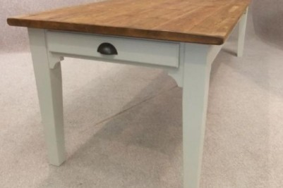 dining table with reclaimed top