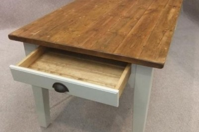 table made from reclaimed timber