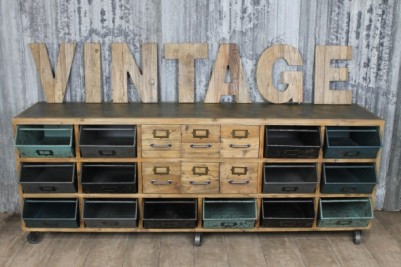 industrial style cabinet unit