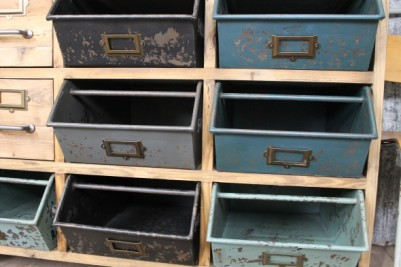 vintage style cabinet metal boxes