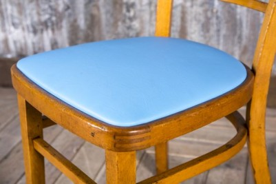 retro blue dining chair