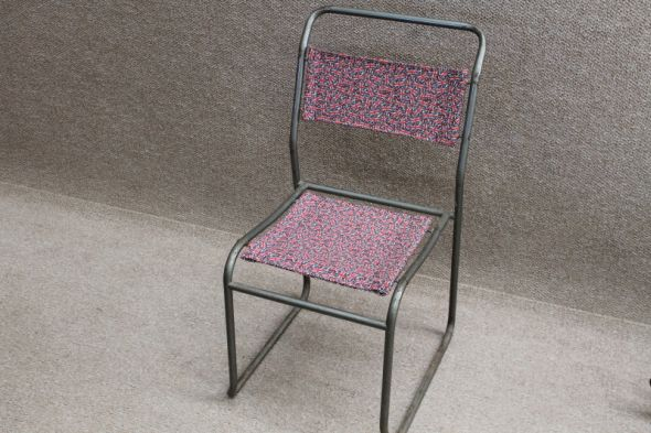Vintage Stacking Chair Covered in Union Jack Print