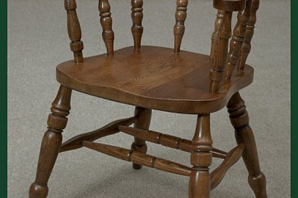 Captains Chair Desk Chair Made of Solid Oak