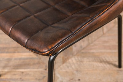 chestnut faux leather dining chairs