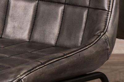 grey faux leather chairs