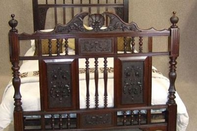 Victorian carved antique bed