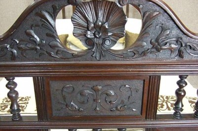 Carved walnut bed antique