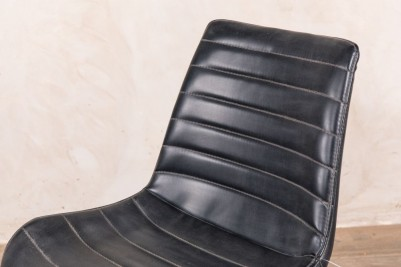 black faux leather seating